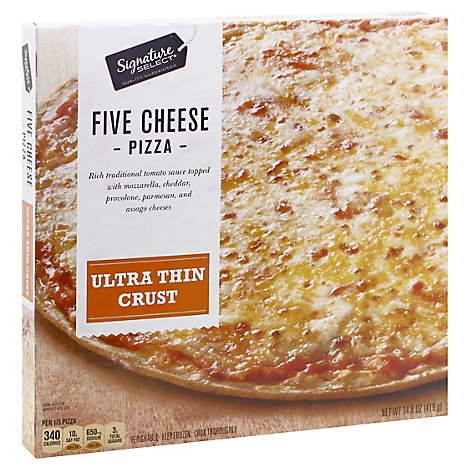 Signature Select Pizza 5 Cheese Ultra Thin Crust - 14.8 Oz