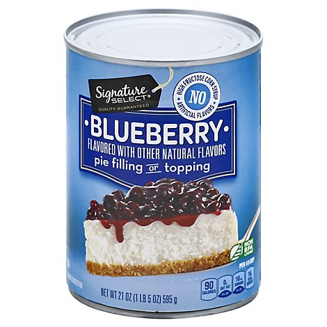 Signature Select Pie Filling Blueberry - 21 Oz
