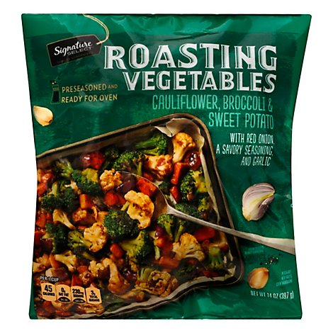 Signature Select Roasters Cauliflower Sweet Potatoes Broccoli - 14 Oz