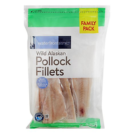 Waterfront Bistro Pollock Fillets Family Pack - 32 Oz