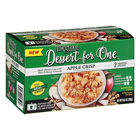 Lucky Leaf Dessert For One Apple Crisp - 10.5 Oz