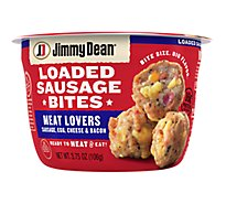 Jimmy Dean Loaded Sausage Bites Meat Lovers Sausage Egg Cheese - 3.75 Oz