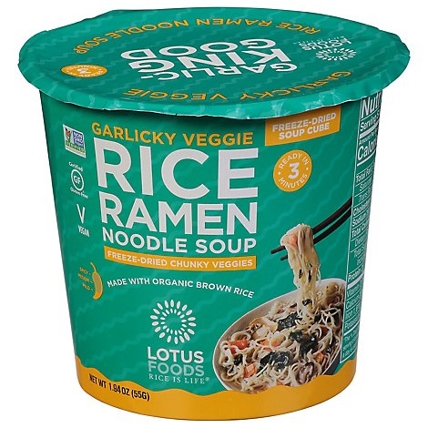 Lotus Foods Ramen Soup Cup Rice Grlc - 1.94 Oz