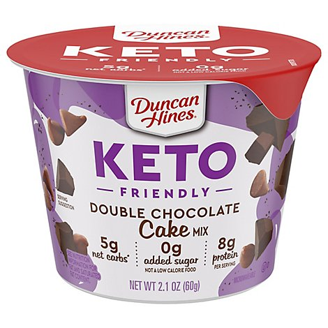 Duncan Hines Keto Cake Mix Double Chocolate - 2.1 Oz