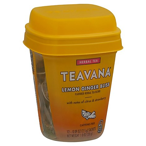 Starbucks Teavana Lemon Ginger 12 Count Sachets - 1 Oz