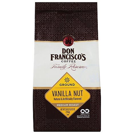 Don Franciscos Reserve Vanilla Nut Ground Coffee - 28 Oz