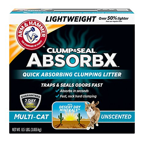 Arm & Hammer Clump & Seal Absorbx Multi Cat Litter Unscntd - 8.5 Lb