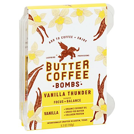 Ladybird Provisions Butter Coffee Bombs Vanilla Thunder - 5.3 Oz.