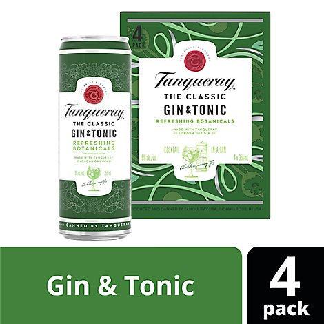 Tanqueray Gin And Tonic Cans - 4-12 Fl. Oz.