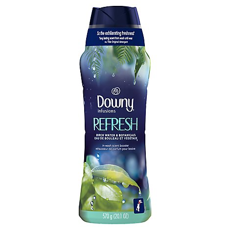 Downy Infusions In Wash Scent Booster Beads Refresh Birch Water & Botanicals - 20.1 Oz