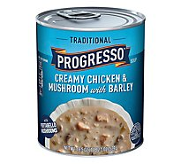 Progresso Traditional Creamy Chicken & Mushroom With Barley Soup - 18.5 Oz