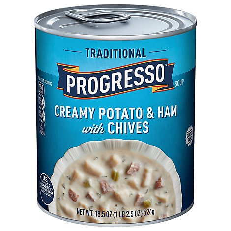 Progresso Traditional Creamy Potato Ham With Chives Soup - 18.5 Oz