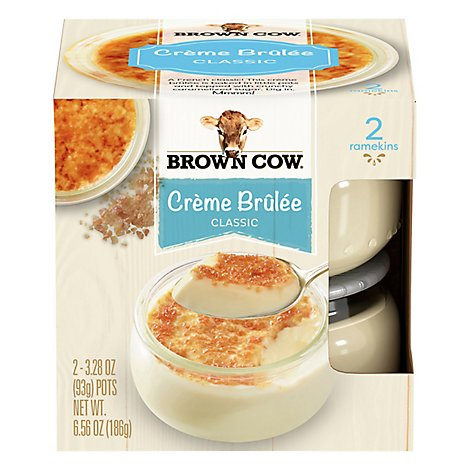 Brown Cow Dessert Creme Brulee 2pk - 6.6 Oz