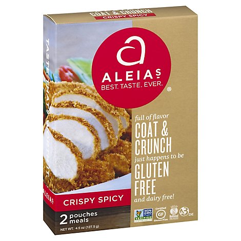 Aleias Coat & Crunch Gluten Free Crispy Spicy 2 Count - 4.5 Oz