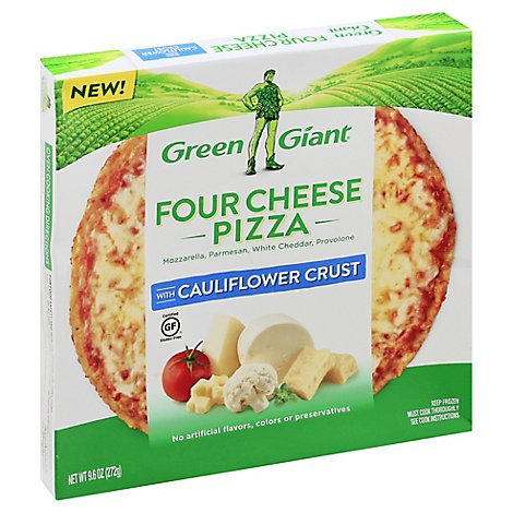 Green Giant Pizza Cauliflower Crust Four Cheese Frozen - 9.6 Oz