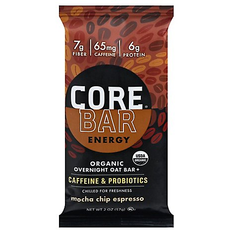 Og Probiotic Energy Oat Bar Espresso Mocha Chip - 2 Oz