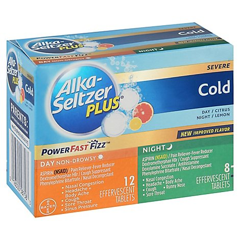 Alka Seltzer Plus Cold Day Night - 20 Count