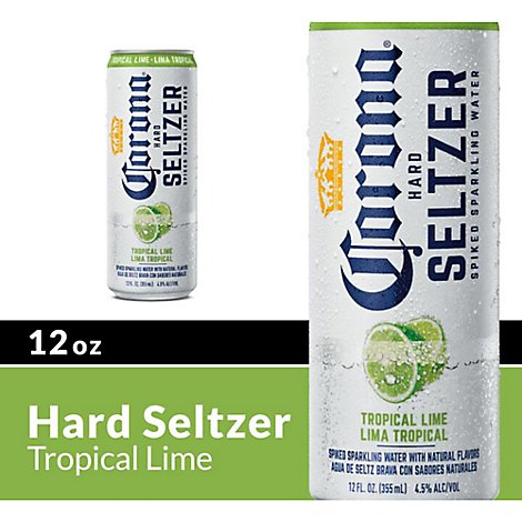 Corona Hard Seltzer Sparkling Water Tropical Lime - 12 Fl. Oz.