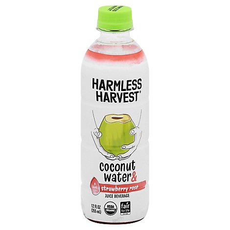 Harmless Harvest Strawberry Rose Coconut Water - 12 Oz