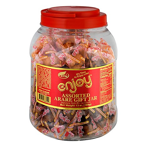 Enjoy Assorted Arare Gift Jar - 13 Oz