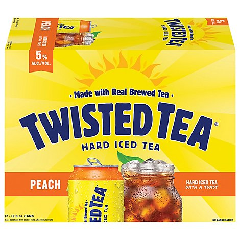 Twisted Tea Hard Iced Tea Peach - 12-12 Fl. Oz.