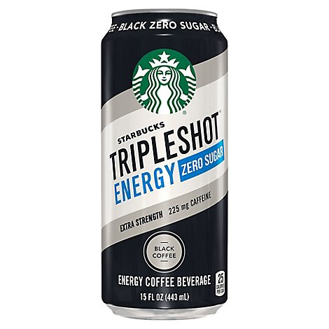 Starbucks Triple Shot Coffee Drink Energy Zero Sugar Black - 15 Fl. Oz.