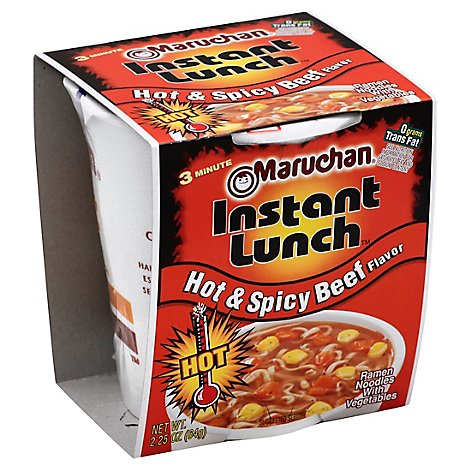 Maruchan Cup Hot Spicy Beef - 2.25 Oz