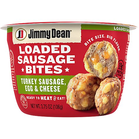 Jimmy Dean Loaded Sausage Bites Turkey Sausage Egg And Cheese - 3.75 Oz
