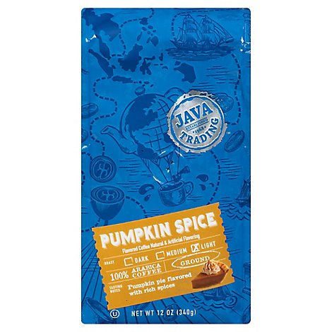 Java Trading Pumpkin Spice Gr Coffee 12oz. - 12 Oz