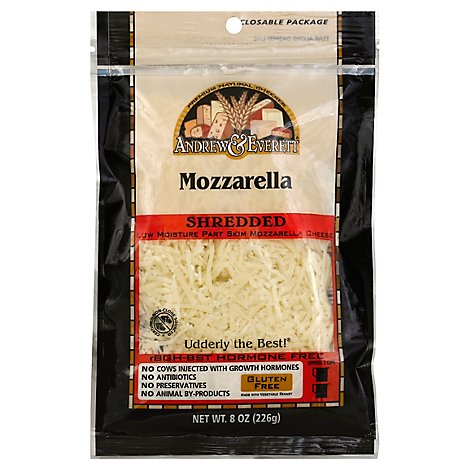 Andrew & Everett Shred Mozzarella - 8 Oz