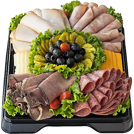 Deli Catering Tray Classic Meat & Cheese 20-24 Servings - Each (Please allow 24 hours for delivery or pickup)