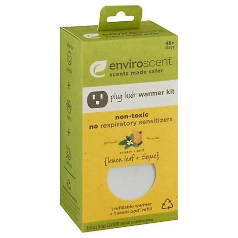Enviroscent Lemon Leaf & Thyme Plug Hub & Pod Kit - Each