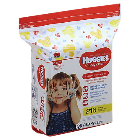 Huggies Simply Clean Fragrance Free Baby Wipes Refill - 216 CT