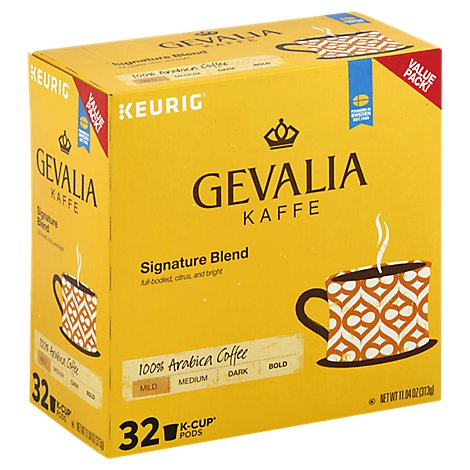 Gevalia Mild Signature Blend Coffee Pods - 32 CT