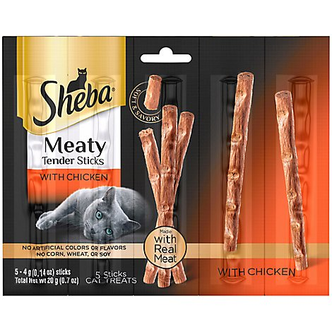 SHEBA Meaty Tender Sticks With Chicken 5 Count - .7 Oz