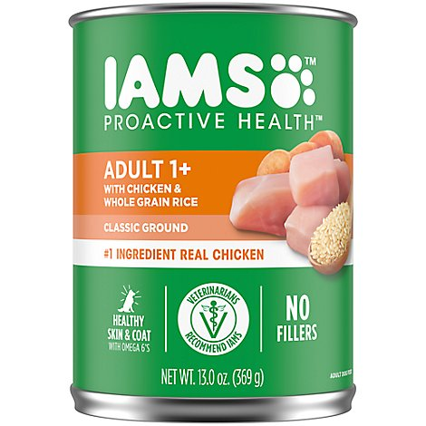Iams Wet Dog Ground Dinner With Chicken & Rice - 13 OZ
