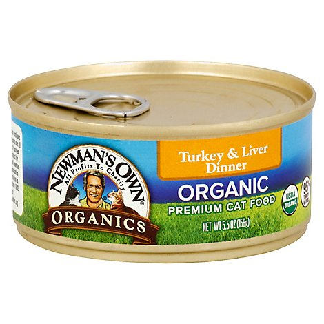 Newmans Own Can For Cats Turkey & Liver Grain Free - 5.5 OZ