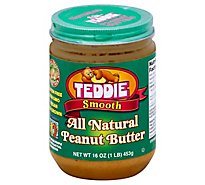 Teddie Smooth Old Fashioned All Natural Peanut Butter - 16 OZ