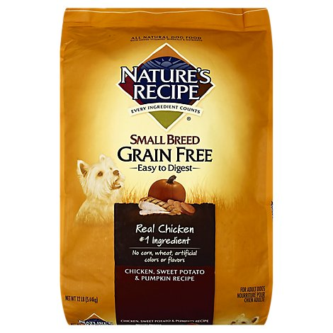 Natures Recipe Grain Free Small Breed Dry - 12 LB