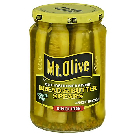 Mt Olive Bread And Butter Zesty Pickle Strips - 24 FZ