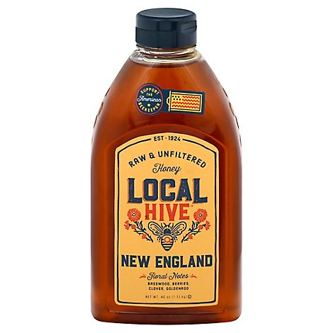 Local Hive Honey Raw & Unfiltered New England - 40 Oz