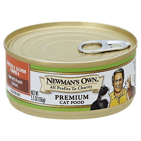 Newmans Own Can For Cats Chicken & Salmon - 5.5 OZ