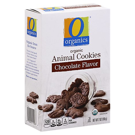 O Organics Animal Cookies Chocolate - 7 OZ