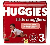 Huggies Little Snugglers Jumbo Pk Step 3 - 26 CT