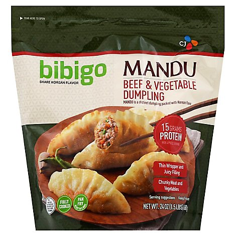 Bibigo Mandu Beef And Vegetable Dumplings - 24 OZ