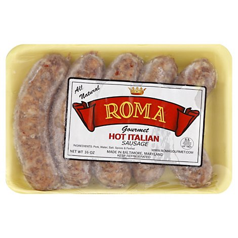 Roma Sausage Hot Italian - 16 OZ