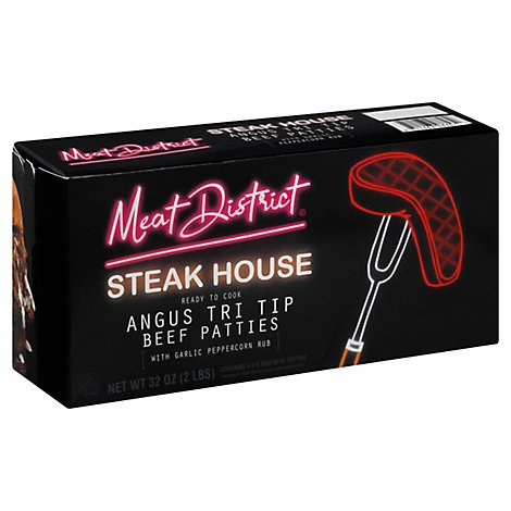 Meat District Steakhouse Angus Beef Tri Tip Patties - 32 OZ