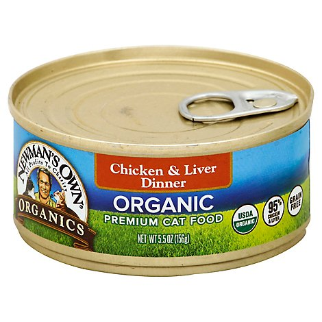 Newmans Own Organics Chicken & Liver Grain Free Wet Cat Food - 5.5 OZ