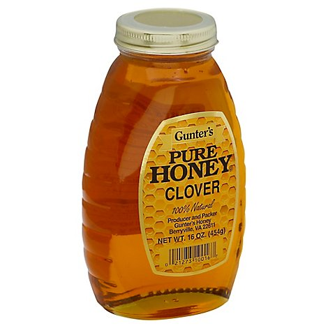 Gunters Pure Clover Honey - 16 OZ