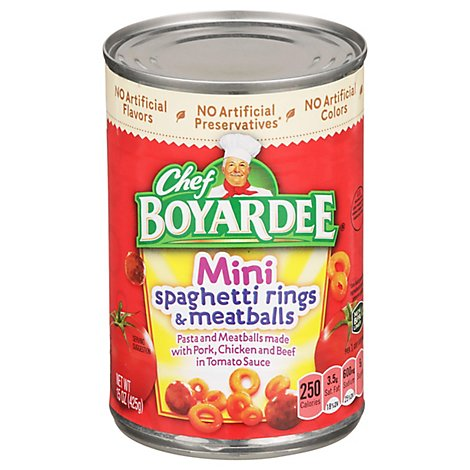 Chef Boyardee Spaghetti Rings & Meatballs Mini Bites - 15 OZ